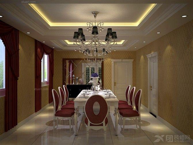 户型:别墅 房间:餐厅 风格:欧式风格 装修类型:家装 装修方式:全包