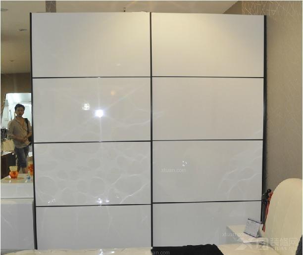 烤漆推拉门衣柜白色烤漆衣柜图片2