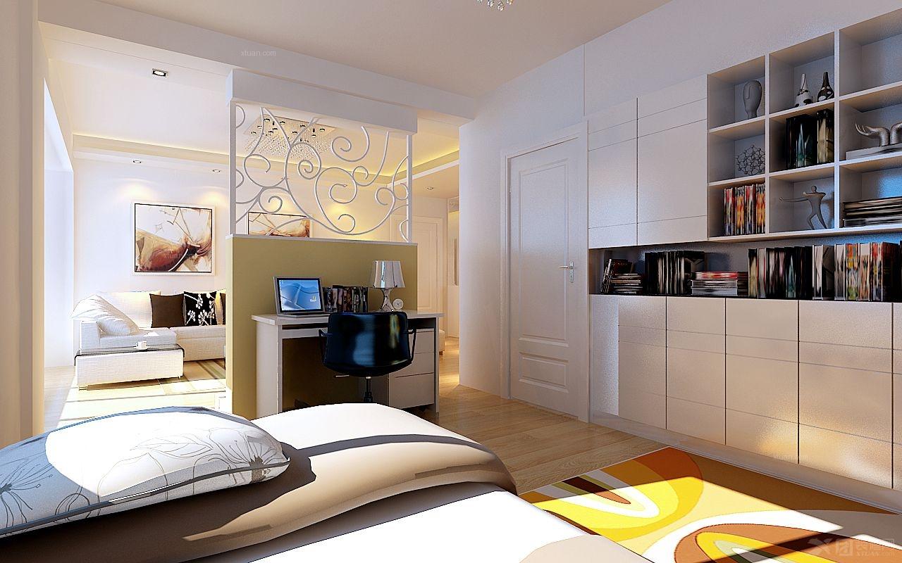 居室欧式风格装修效果图  户型:三居室 风格:现代简约 装修类型:家装