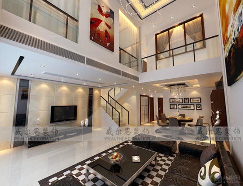 【西安城市人家】曲江南湖一号复式楼设计:宫廷范的欧式古典装修 禹州