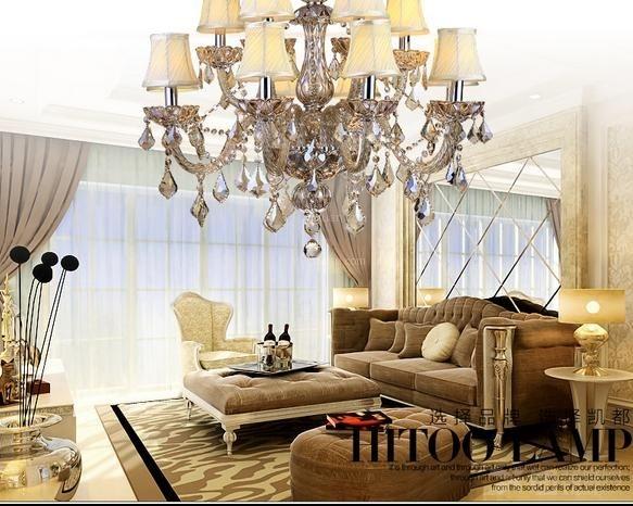 简欧式水晶灯客厅灯具装修效果图图片图片