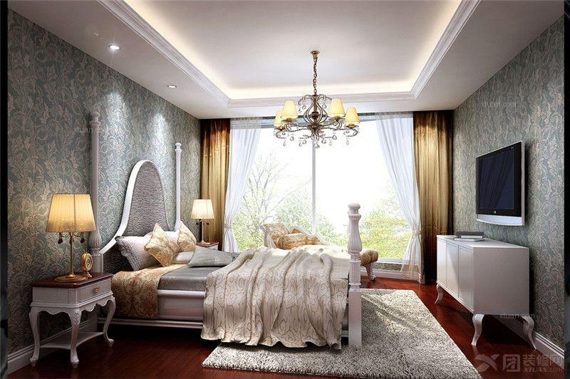 三居室欧式风格_金色漫香苑欧式三居设计方案装修效果