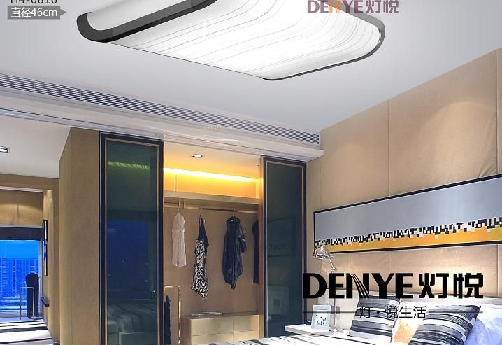 长方形客厅led吸顶灯装修效果图