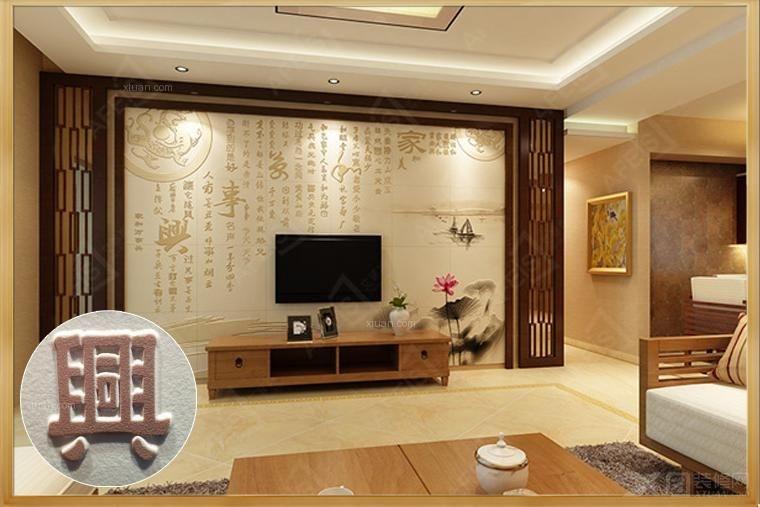 瓷砖背景墙 客厅电视背景墙 雕刻背景墙瓷砖 瓷砖壁画