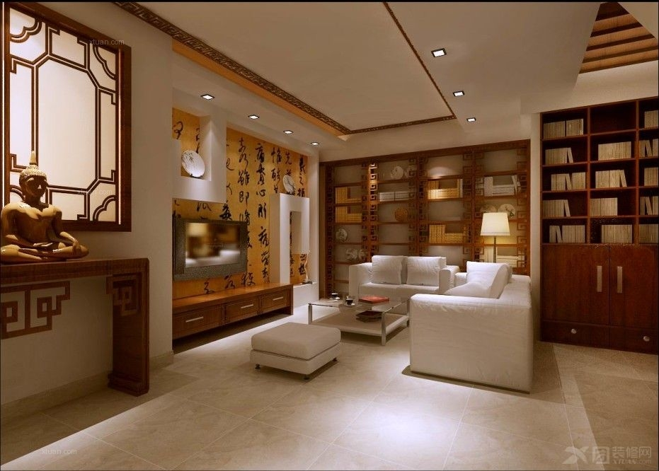 复式楼中式风格地下室图片