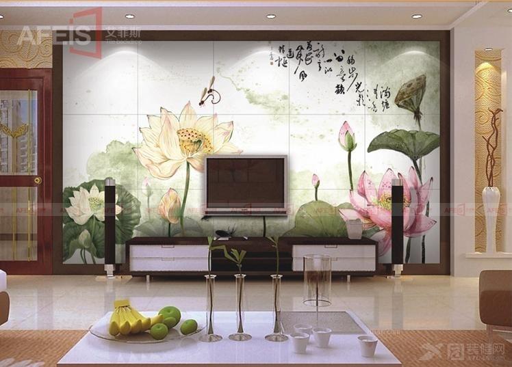 电视瓷砖背景墙 瓷砖拼图壁画