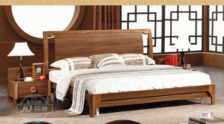 实木床产品效果图