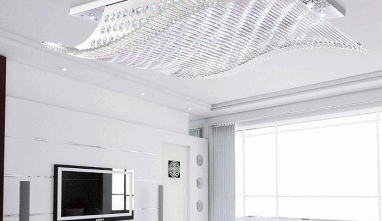 现代简约 led客厅灯长方形装修效果图