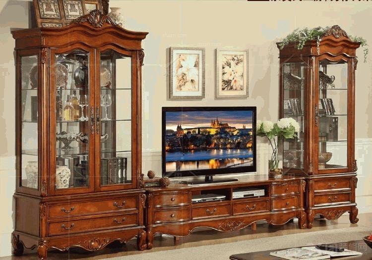 电视柜实木装修效果图