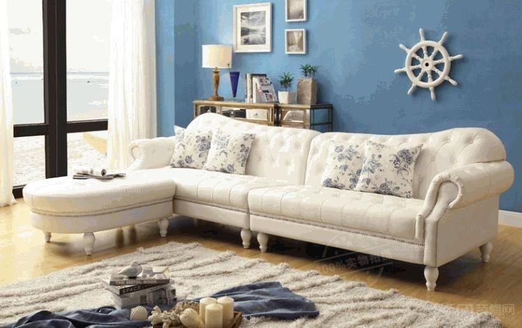 美式实木雕花欧式转角沙发组合可拆洗客厅小户型家具