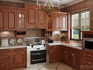 鑫诺伟天 进口俄罗斯水曲柳纯实木整体厨柜定做 欧式厨房橱柜定