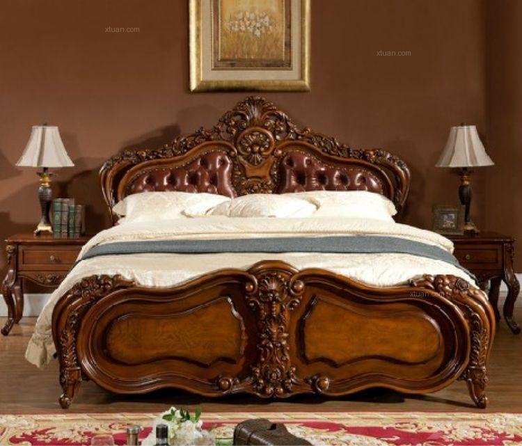 奢华美式乡村床