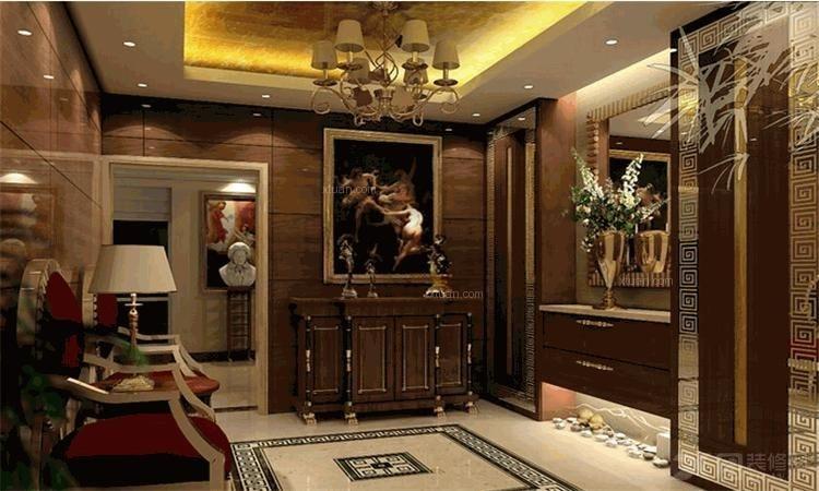 两居室简欧风格客厅_森林半岛装修效果图-x团装修网