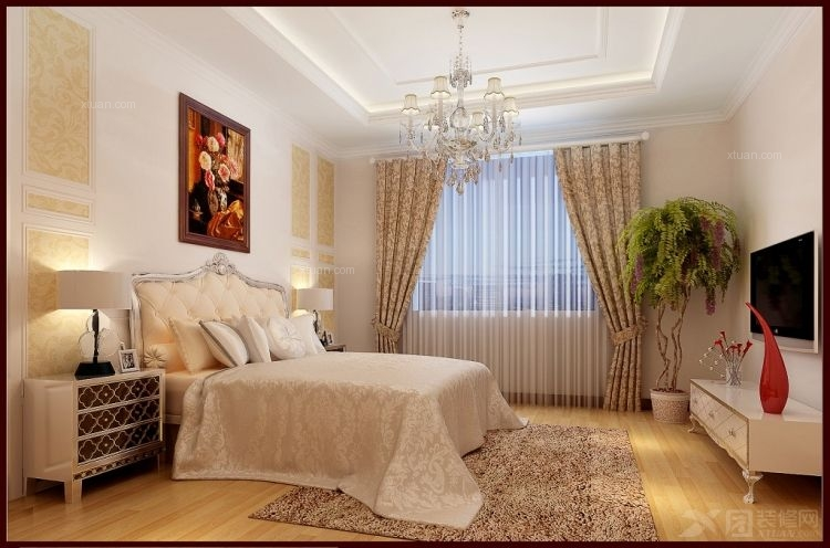 别墅欧式风格_都市心海岸-欧式奢华复试220平米