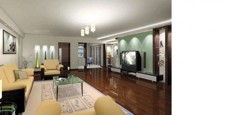 客厅设计装修效果图  户型:两室一厅 房间:客厅 装修类型:家装 装修