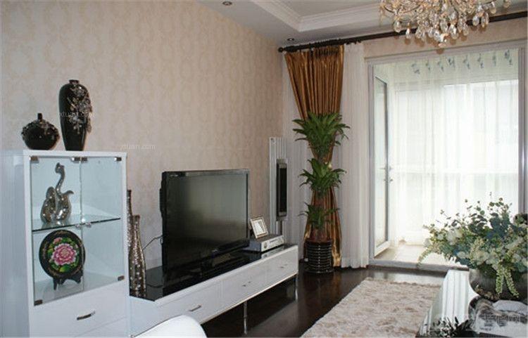 卧室装修效果图 泽瀚峰景-53平小户型现代美式卧室装修效果图 中式图片