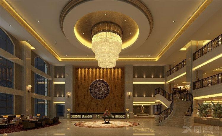 酒店大厅装修效果图-x团装修网图片