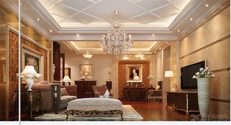设计装修效果图 原生态朴质的复式楼客厅装修效果图  荆州星艺装饰