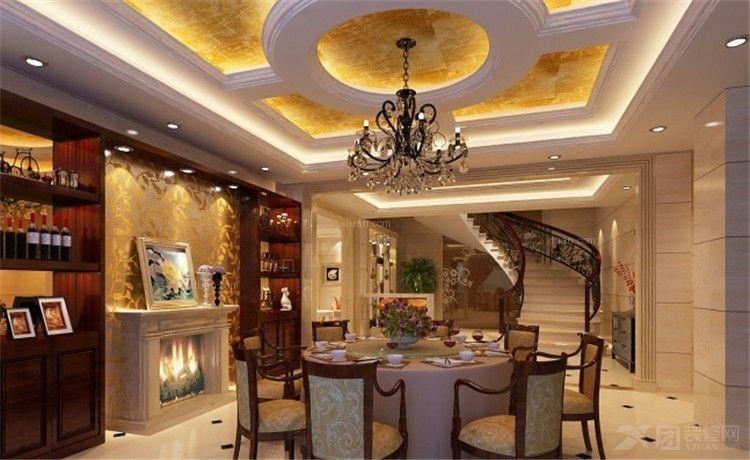 设计装修效果图 新中式风格餐厅案例装修效果图  荆州星艺装饰有限