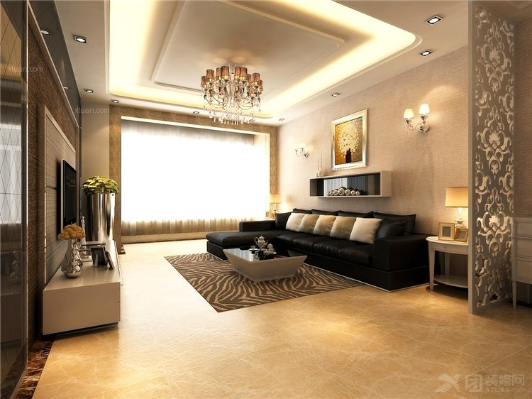 中式别墅客厅装修效果图  户型:三居室 房间:客厅 风格:韩式风格 装修图片
