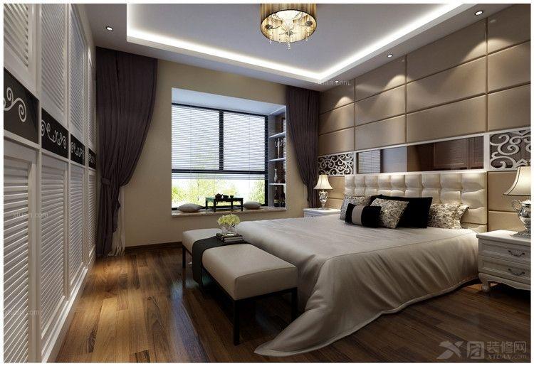 卧室装修效果图 卧室图【西宁家装】装修效果图 卧室家具定制实木衣柜