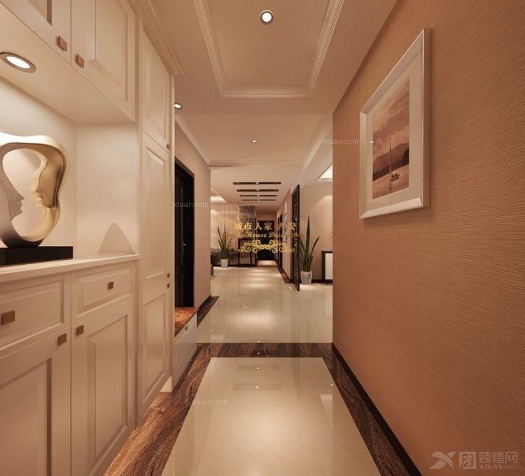 四居室时尚风格过道地台_【西安城市人家】现代港式极简主义,大气上图片