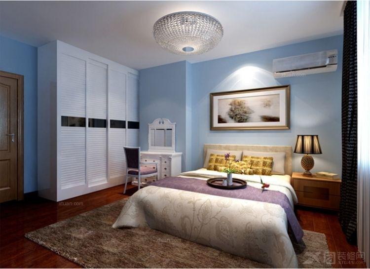 户型:两室两厅 房间:卧室 风格:现代简约 装修类型:家装 装修方式