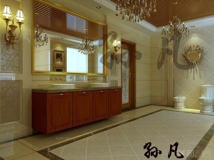 别墅乡村风格卫生间_北京元洲装饰推荐远洋·傲北(巴摩梭罗)别墅欧式