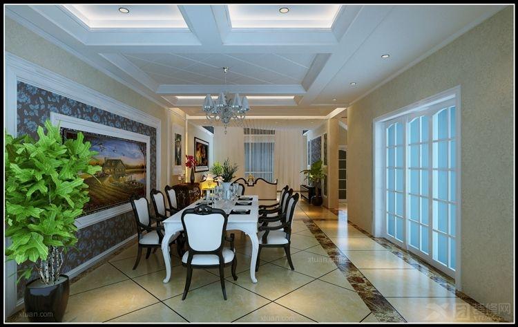 餐厅装修效果图  户型:复式楼 房间:餐厅 风格:欧式风格 装修类型图片