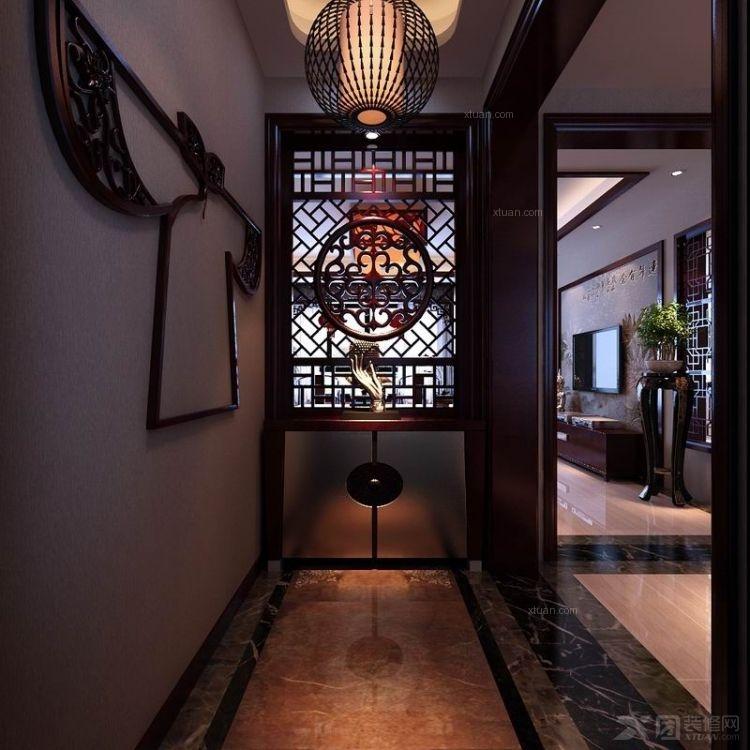 艺术拼图瓷砖 瓷砖艺术壁画装  户型:别墅 房间:玄关 风格:中式风格图片
