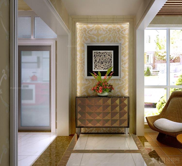 餐厅书房玄关过道蒂凡尼单头吊灯 宜家风格欧式实木鞋柜简约现代白色