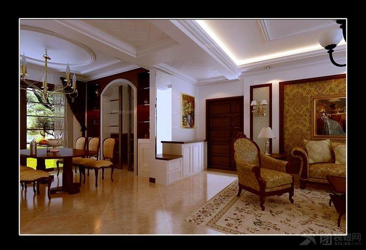 户型:三室两厅 房间:客厅 风格:欧式风格 装修类型:家装 装修方式