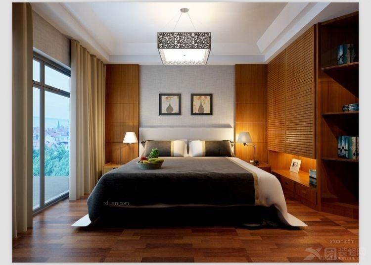 三室两厅中式风格卧室_紫松枫林上城装修效果图-x团图片