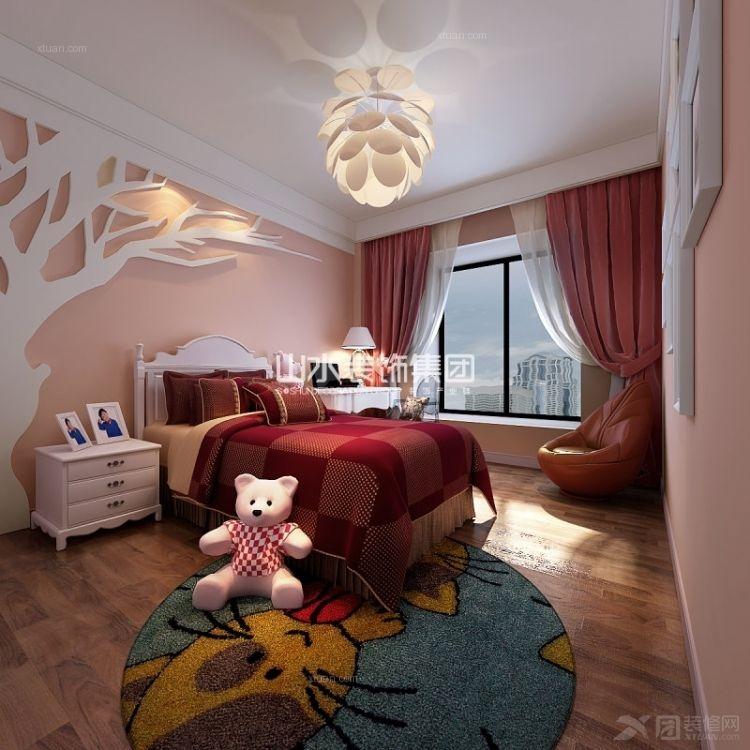 套房卧室装修效果图 融湖中心城卧室家具装修效果图  户型:三室两厅