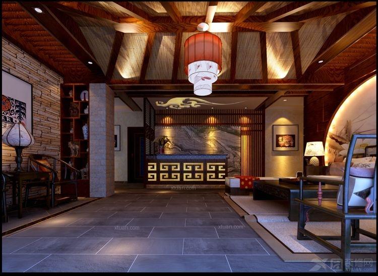 中式风格_苗圣堂养生馆装修效果图-x团装修网图片