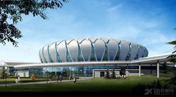 圆顶体育馆设计装修效果图