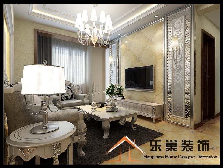 济宁南池公馆三室两厅新中式风格装修效果图 130平三室两厅设计装修