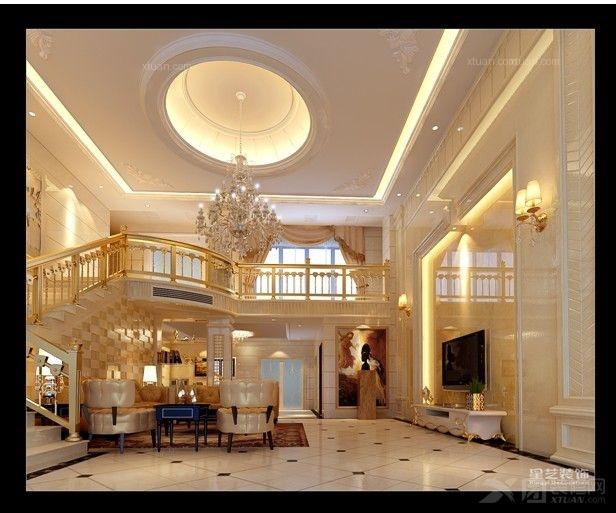复式楼欧式风格客厅_百德康桥楼中楼装修效果图-x团图片