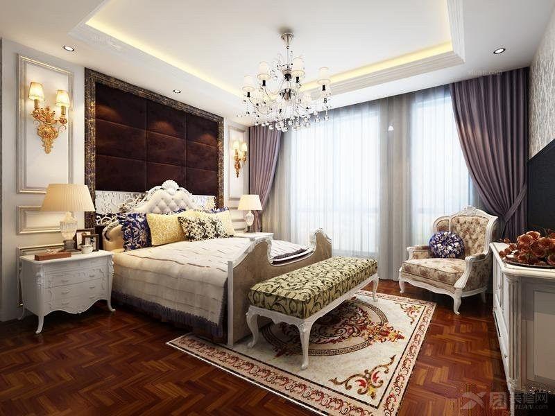 中式卧室装修效果图 套房卧室装修效果图 融湖中心城卧室家具装修效