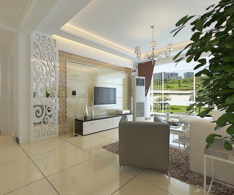 两室一厅简欧风格客厅_水岸公馆装修效果图-x团装修网图片