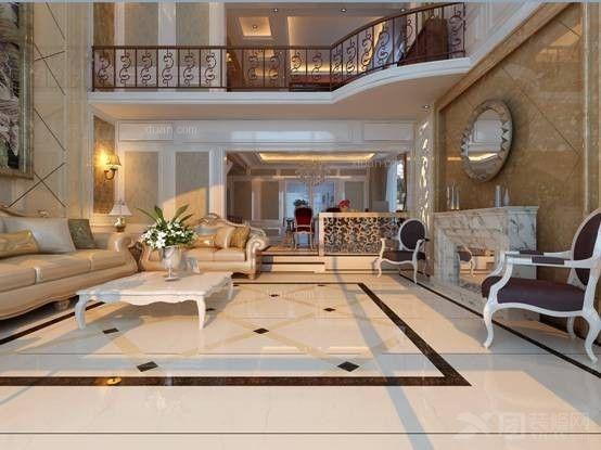 别墅大厅地板砖效果图别墅地板砖效果图大全图片2