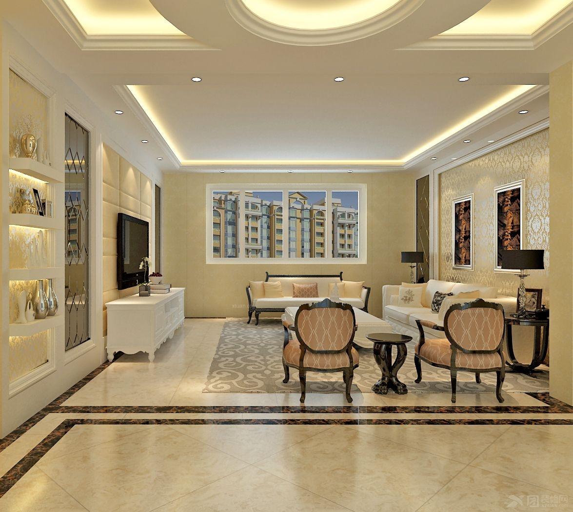 套间客厅装修效果图  户型:三室一厅 房间:客厅 风格:现代简约 装修