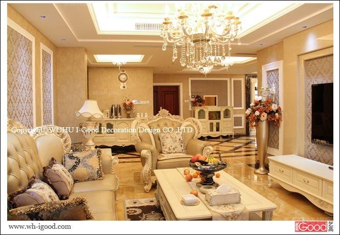 中式别墅客厅装修效果图 客厅装修效果图  户型:跃层 房间:客厅 装修