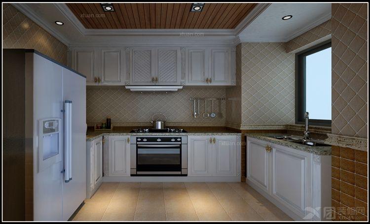 三室两厅欧式风格厨房_花果园图片