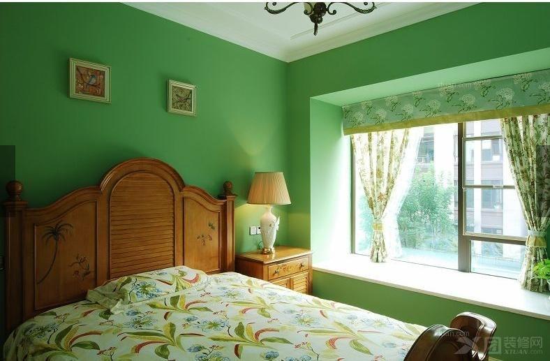 四居室美式风格卧室卧室背景墙