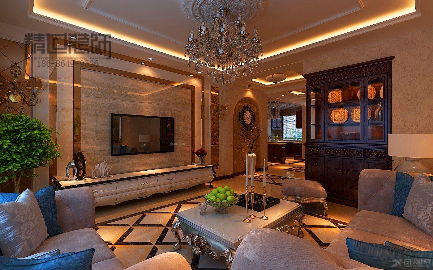 三室两厅欧式风格_欧式装修效果图-x团装修网
