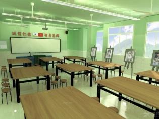 学校绘画教室效果图