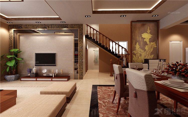 复式楼客厅装修效果图 套间客厅装修效果图  户型:三室两厅 房间:客厅