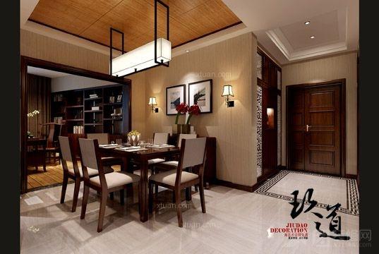 老太婆小海鲜餐厅设计装修效果图 新中式风格餐厅案例装修效果图