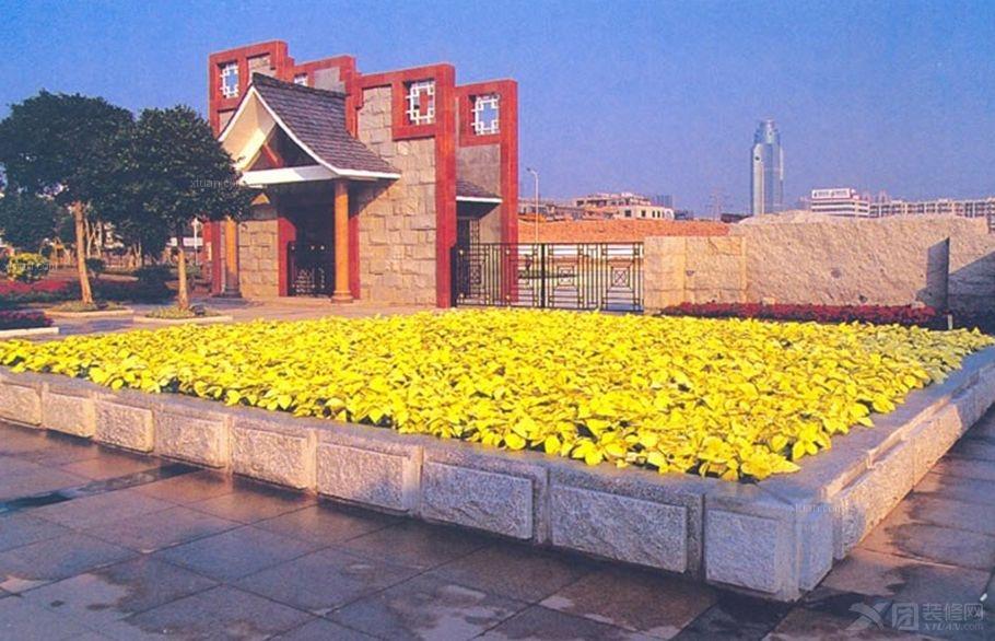 黄色花坛装修效果图